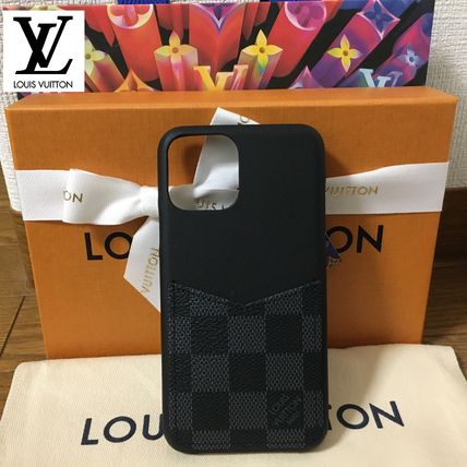 Louis Vuitton スマホケース・テックアクセサリー 即発★Louis Vuitton iphone 11 Pro ケース ダミエ・グラフィット