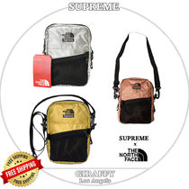 正規 18SS SUPREME /The North Face Metallic Shoulder Bag
