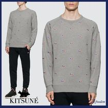 ★MAISON KITSUNE★All-over Tricolor Fox Embroideryスウェットシャツ