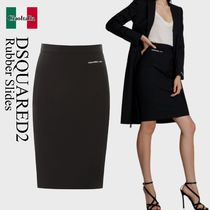 Dsquared2 logo pencil skirt