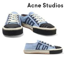 Acne Studios☆Rubber-trimmed appliqued canvas sneakers