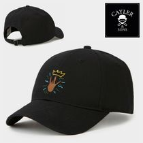 CAYLER&SONS(ケイラーアンドサンズ) キャップ SALE★WL King Lines Curved Cap【送込Cayler&Sons】黒手冠刺繍