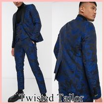 Twisted Tailor 花柄ジャカードスキニースーツ 3点セット Blue