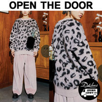 OPEN THE DOOR leopard over knit (3 color) MH888 追跡付