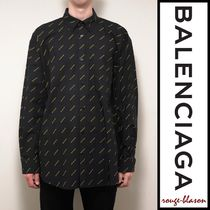 【国内発送】Balenciaga シャツ Black Shirt with Yellow Logo