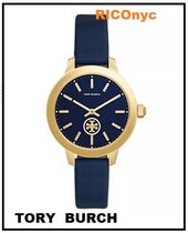 NY発送!! Collins Tory Navy Leather Strap Watch