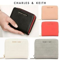 20SS新作【Charles&Keith】Classic Zip Wallet / 二つ折り財布