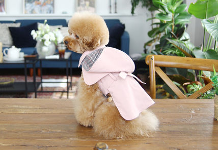 TOTO&ROY 洋服 ★犬服 韓国★冬アウター★Hoody Trench Coat Pink(5)