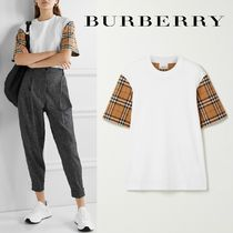 ∞∞ Burberry ∞∞ Checked poplin-trimmed Tシャツ☆