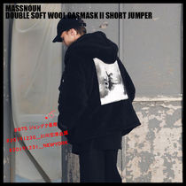 ◆MASSNOUN◆ DOUBLE SOFT WOOL GASMASK II SHORT JUMPER (BK)