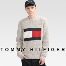 TOMMY JEANS フラッグニットセーター 国内買付 すぐ届く