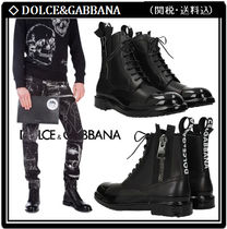 【Dolce&Gabbana】Leather Firenze Ankle Boots 関税・送料込