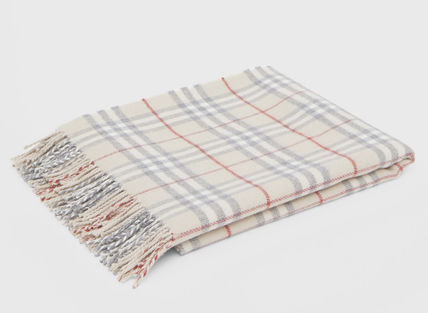 Burberry キッズ・ベビー・マタニティその他 Burberry Vintage Check Wool Flannel Baby Blanket(2)