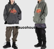 RAUCO HOUSE RED METALLICA PIGMENT DYING HOODIE