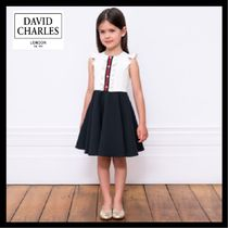 DAVID CHARLES ★ White & Navy Blue スマートドレス ★ 2-10Y