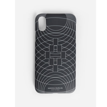 "Marcelo Burlon スマホケース・テックアクセサリー 大人気""MARCELO BURLON""MEN'S BLACK WIREFRAME XS MAX/XR CASE(2)"