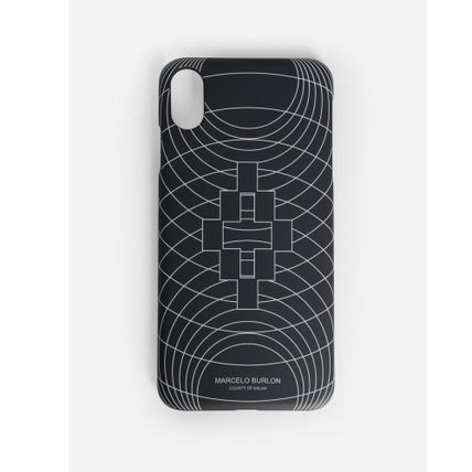"Marcelo Burlon スマホケース・テックアクセサリー 大人気""MARCELO BURLON""MEN'S BLACK WIREFRAME XS MAX/XR CASE(4)"