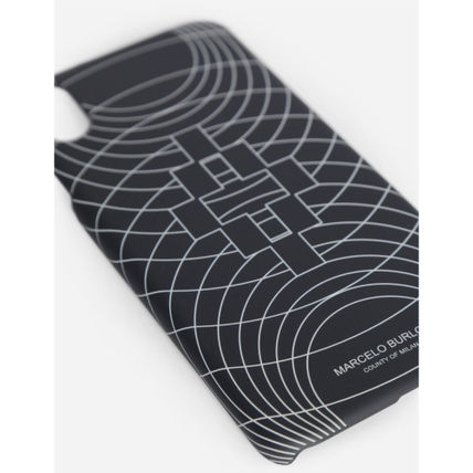 "Marcelo Burlon スマホケース・テックアクセサリー 大人気""MARCELO BURLON""MEN'S BLACK WIREFRAME XS MAX/XR CASE(5)"