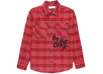 OFF-WHITE  Flannel Shirt Red/Black