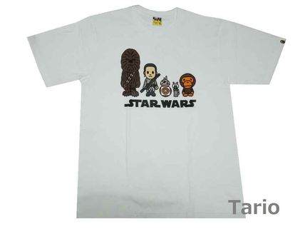 送料込!A BATHING APExSTAR WARS コラボTシャツ REPUBLIC 白XL