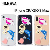 RIMOWA TransparentStickersCaseクリアiPhoneケースXR/XS/XS Max