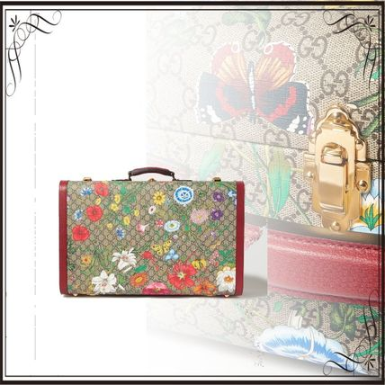 GUCCI スーツケース 関税込み◆Ophidia large textured leather-trimmed printed