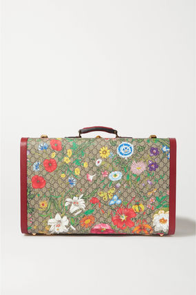 GUCCI スーツケース 関税込み◆Ophidia large textured leather-trimmed printed(2)