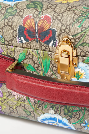 GUCCI スーツケース 関税込み◆Ophidia large textured leather-trimmed printed(5)