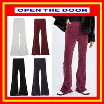 [OPEN THE DOOR] velvet corduroy boots-cut long pants [全4色]