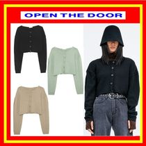 [OPEN THE DOOR]  rounded crop wool cardigan -[全3色] /追跡付