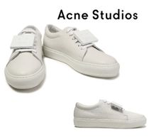 Acne Studios☆Embellished textured-leather sneakers