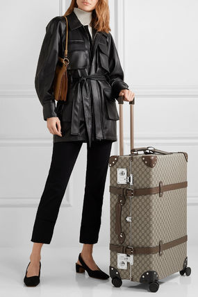 GUCCI スーツケース 関税込み◆+ Globe-Trotter large leather-trimmed printed(4)