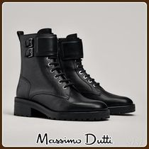 MassimoDutti♪LACE-UP ANKLE BOOTS WITH BUCKLES