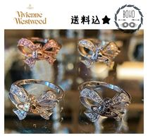 UK発! 【Vivienne Westwood】 Silver/Gold Gail Orb Bow ピアス