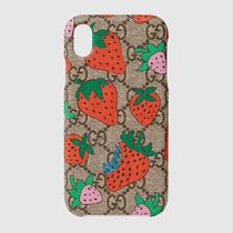 Gucci GG Strawberryプリント iPhone XRケース