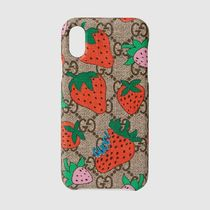 Gucci GG Strawberryプリント iPhone X/XSケース