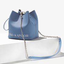 FIND KAPOOR(ファインドカプール) ショルダーバッグ・ポシェット ★FIND KAPOOR★PINGO 16 LETTERING CHAIN BLUE GRAY STRAP97