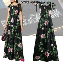 【DOLCE&GABBANA】ROSE PRINT ONESIE DRESS