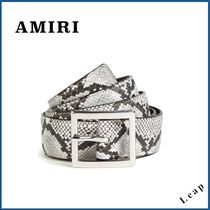【AMIRI】人気ベルト★EMBOSSED PYTHON BELT NATURAL◎