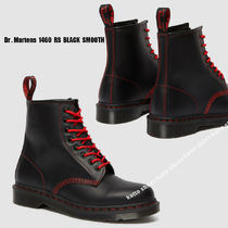 Dr Martens★1460 RS BLACK SMOOTH レッド ステッチ★兼用