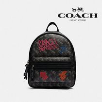 【COACH】VALE MEDIUM CHARLIE BACKPACK ロゴプリント F84225