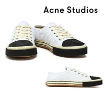 Acne Studios☆Appliqued quilted two-tone cotton-canvas スニーカー