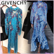 【19AW NEW】GIVENCHY_women/ 花柄シルクワンピース / ブルー