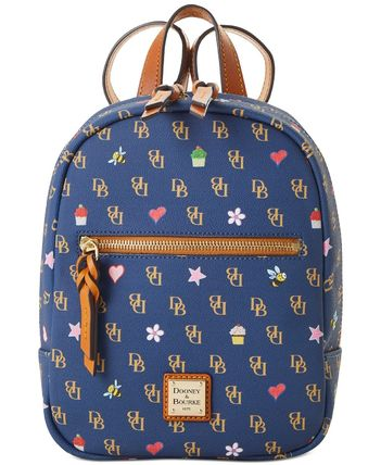 Dooney & Bourke バックパック・リュック 【Dooney & Bourke】Small Ronnie Backpack Navy/Gold