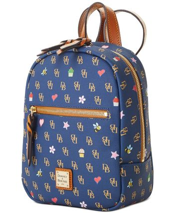 Dooney & Bourke バックパック・リュック 【Dooney & Bourke】Small Ronnie Backpack Navy/Gold(3)