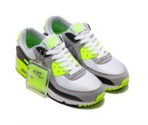 【NIKE】W AIR MAX 90 WHITE/PARTICLE GREY-VOLT 要在庫確認