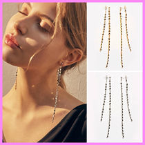 【Hei】leaf chain drop earring〜TWICE着用ピアス★日本未入荷