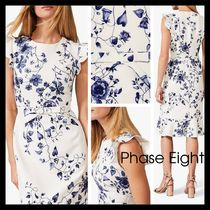 【Phase Eight】爽やか 上品 Tori Floral Dress 花柄 白/紺