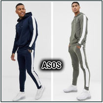 ASOS★tracksuit with hoodie and side stripe 2色★送料無料!