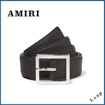 【AMIRI】人気ベルト★EMBOSSED PYTHON BELT BLACK◎
